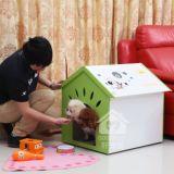 중간과 작은 개를 위한 실내 사용 애완 동물 집