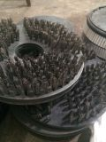 spazzola metallica dell'acciaio inossidabile 15inch per il macchinario di pulizia del guscio