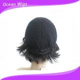 Оптовые человеческие волосы Wigs #1b Color Can Change Style Quercy Hair Full Wig Machine Made человеческих волос 1PC New Style Short бразильские