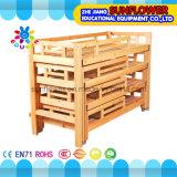 아이들 유치원 가구를 위한 나무로 되는 4개의 지면 침대