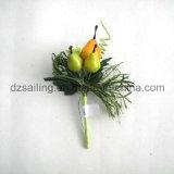 Flor artificial da picareta da fruta para a embalagem do presente e o Corsage (SFH1018-4)