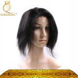 Peluca llena sin procesar del cordón del pelo humano de la Virgen (FDX-WJ5128)
