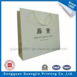Alta calidad laminado mate blanca de papel Bolsa de compras