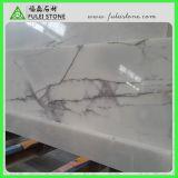 Lilac白い大理石のテーブルの上のカウンタートップの虚栄心の上作業上