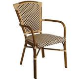 [فرنش] [رتّن] خيزران ينظر قضيب كرسي تثبيت ([بك-08018])