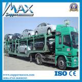Tri caminhão e reboque do transporte do portador de carro do eixo