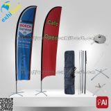 Таможня рекламирует знамя пляжа мухы улицы вертикальное с Поляк