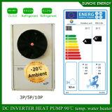 Riscaldatore Monobloc freddo dell'invertitore della pompa ad acqua dell'aria dell'acqua calda 12kw/19kw Evi del tester House+55c del riscaldamento di pavimento di inverno -20c della Serbia 120sq