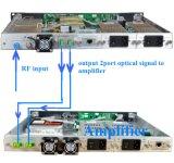 1310nm 1550nm CATV sobre transmisor del RF TV del transmisor de la fibra
