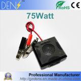 DC электропитания 75W 12V кабеля к переходнике инвертора силы автомобиля AC 220V с светом цифров