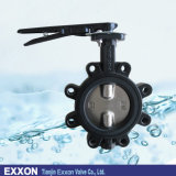 ANSI JIS/DIN GB Standard Cast Iron Body/SS 304 Disc Wafer Type Lug/Lugged Butterfly Valve in 150lb/Pn10/Pn16