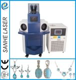Soldadura de ponto do laser da jóia da liga do metal/máquina automáticas do soldador