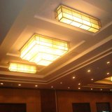 Qualitäts-Hotel-dekorative mehrschichtige quadratische Harz-Decken-Lampe