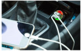 Заряжатель батареи автомобиля 12V прямой связи с розничной торговлей портативный двойной для всех телефонов