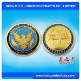 Moderne sportive Metallmünze mit Goldplatten-Firmenzeichen