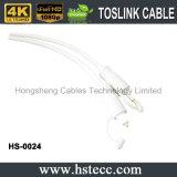 Câble sonore blanc de Toskink avec le moulage de PVC