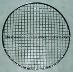 Round commode Barbecue Grill Wire Mesh avec Wood Handle