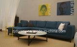 Italienisches neues Wohnzimmer-hölzernes ledernes Sofa der Art-2015 eingestellt (D-68)