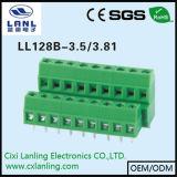 Блок винта PCB Ll128A-3.5/3.81 терминальный