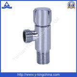 Válvula de ângulo de bronze chapeada cromo com punho do zinco (YD-5031)
