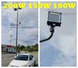 Vente chaude Philips SMD 110lm/W 5 ans de garantie 1-10V obscurcissant la lumière d'inondation extérieure d'endroit de 200W 150W 100W DEL