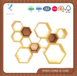Cas d'exposition moderne en bois de nid d'abeilles