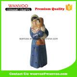 Scultura antica cinese della donna del gres