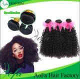 安い価格100%の加工されていない織り方のバージンの人間の毛髪の拡張