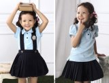 Moda personalizada Elegante escola primária Men's and Girl's Uniform S53101