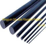 Fibra de pouco peso Rod do carbono com de grande resistência
