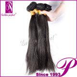Directement cheveux humains brésiliens non transformés en soie de 100%