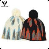 2016最新の方法冬のジャカードスカーフの帽子セット