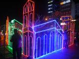 Decoração da alameda do festival da luz do jardim do diodo emissor de luz Eiffel
