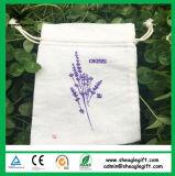多彩なロゴは綿の引くことの網袋の卸売を印刷した