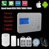 Draadloze GSM+PSTN Alarm System met Touch Keypad (steun APP)