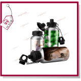 400ml Sliver e bottiglia di acqua di White Sublimation Sports con Two Lids