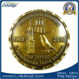 Pièce de monnaie en métal de qualité avec le bord de diamant