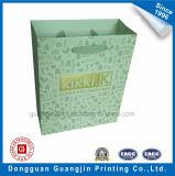 Kundenspezifischer weißer Packpapier-Beutel mit goldenem Firmenzeichen