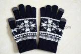 Связанные акриловые теплые перчатка/Mitten жаккарда