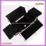 Personifizierter Plastikecken-kosmetischer Arbeitsweg-Kasten mit Aluminiumrahmen (SACMC014)