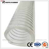 Boyau hydraulique renforcé de pipe de débit industriel de l'eau de fil d'acier de PVC de plastique
