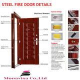 90分のガラス鋼鉄火の評価されるドア