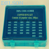 Arandela plana de cobre kit 16size 160PCS cobre Anillo Surtido