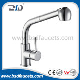 Parte girevole Spout Single Handle Pull out Sink Faucet con Sprayer
