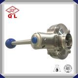 Válvula de mariposa sanitaria del acero inoxidable de la alta calidad 304 316L 3way con la te