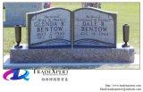 Headstones dritti di stile del libro, monumento dritto trasversale
