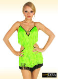 Vestito latino da ballo delle 2016 nuove nappe Sequined sexy di Ladise, personalizzato