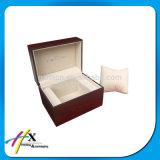 Rectángulo de madera de lujo personalizado venta caliente del conjunto del reloj