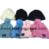 Headphone、Cute Knitted Bluetooth Music Hatsの方法Bluetooth Hat