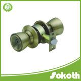 Cerradura de puerta de alto grado de la perilla de la aleación de aluminio de la marca de fábrica de Sokoth, cerradura cilíndrica de la manija, cerradura cilíndrica de la manija redonda